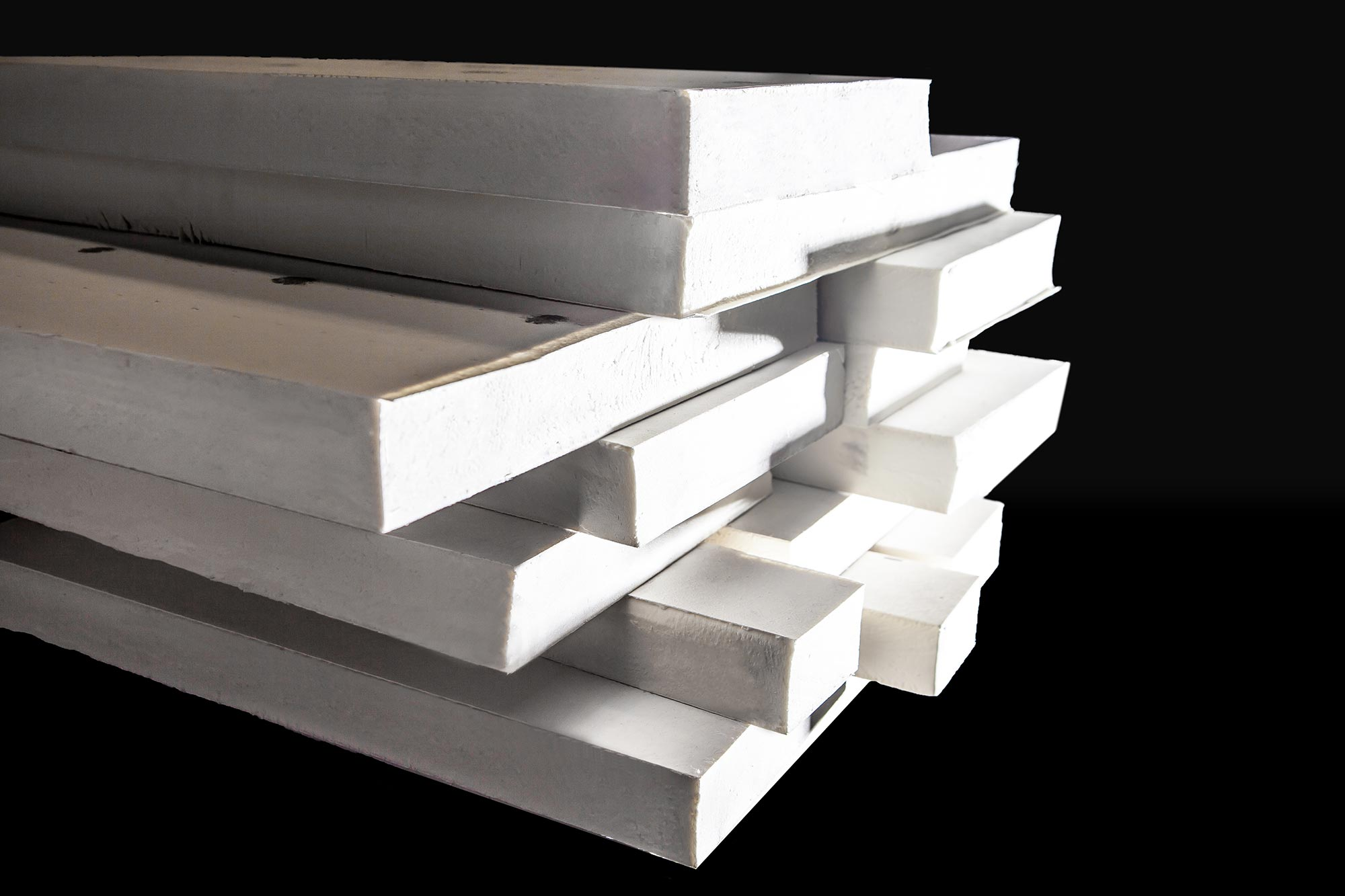 Image showing a pile of polyisocyanurate insulation panels.