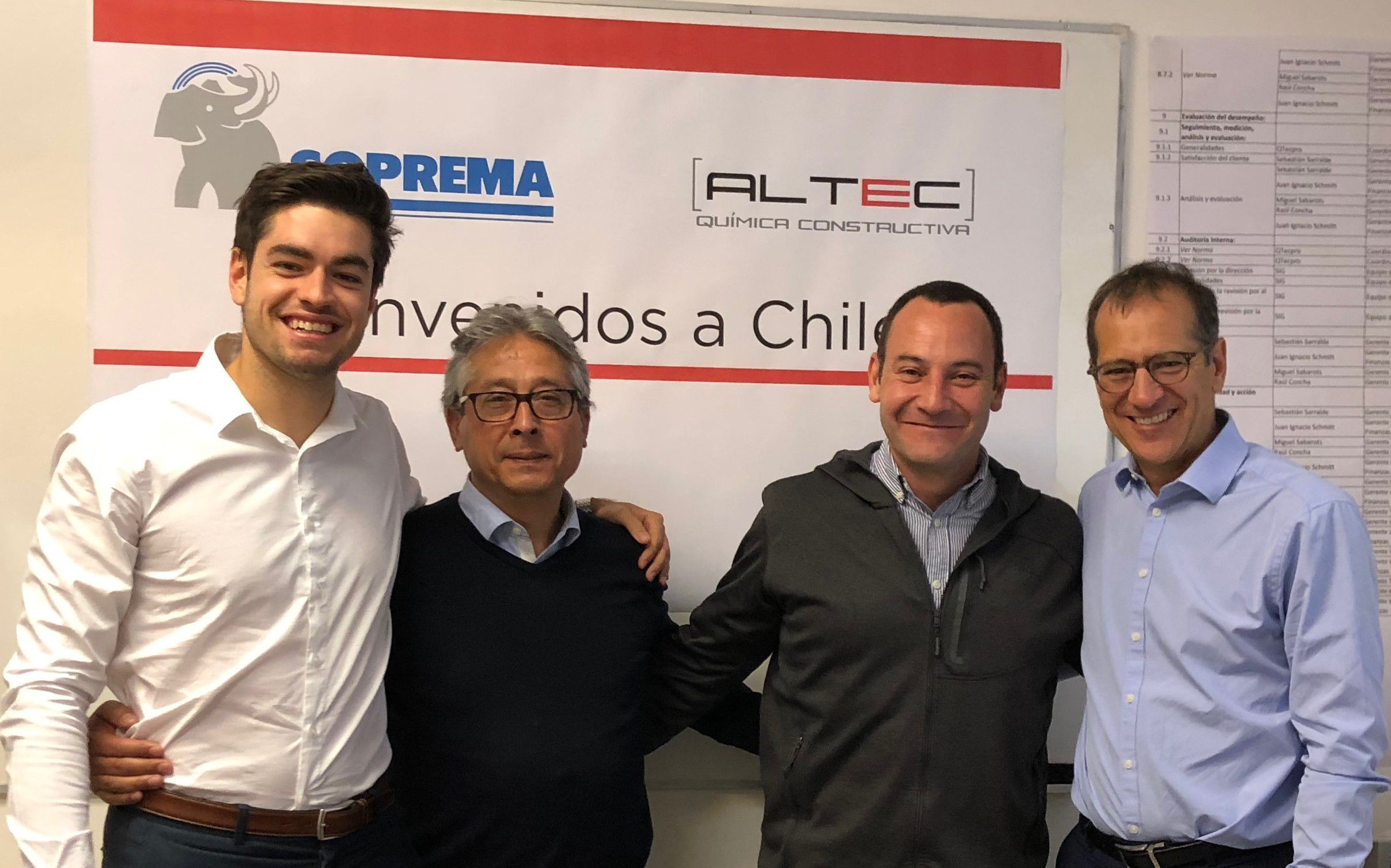 SOPREMA CONTINUES ITS INTERNATIONAL EXPANSION WITH A NEW STRATEGIC PARTNERSHIP IN CHILE