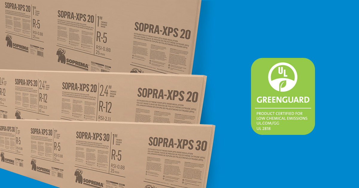 SOPRA-XPS obtient sa certification GREENGUARD OR