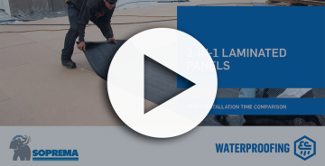 Thumbnails video 2-in-1 Factory-Laminated Panels VS Traditional Roof Membrane installation